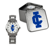 Ladies Stainless Steel Fashion Watch-IC Athletic Logo