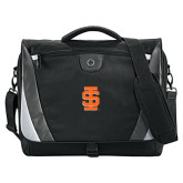 Slope Black/Grey Compu Messenger Bag-Interlocking IS
