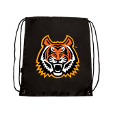 Nylon Black Drawstring Backpack-Bengal Head