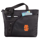 Excel Black Sport Utility Tote-Interlocking IS