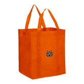 Non Woven Orange Grocery Tote-Bengal Head