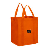 Non Woven Orange Grocery Tote-Idaho State Block
