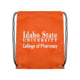 Orange Drawstring Backpack-Idaho State University College Pharmacy