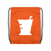 Orange Drawstring Backpack-Idaho State University Mortar