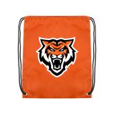 Orange Drawstring Backpack-Primary Athletics Mark