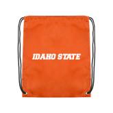 Orange Drawstring Backpack-Idaho State