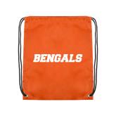 Orange Drawstring Backpack-Bengals