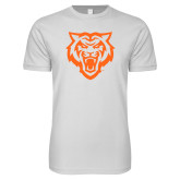 Next Level SoftStyle White T Shirt-Primary Athletics Mark - One Color