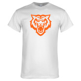 White T Shirt-Primary Athletics Mark - One Color