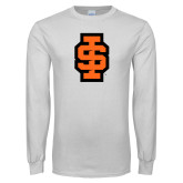 White Long Sleeve T Shirt-Interlocking IS - 2 Color