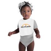 White Baby Bib-Interlocking IS - One Color