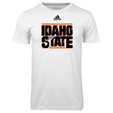 Adidas Climalite White Ultimate Performance Tee-Idaho State Block