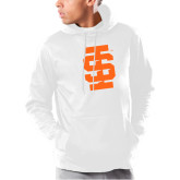Under Armour White Armour Fleece Hoodie-Interlocking IS - One Color