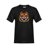 Youth Black T Shirt-Bengal Head