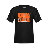 Youth Black T Shirt-Idaho State Block