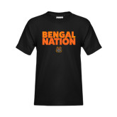 Youth Black T Shirt-Bengal Nation