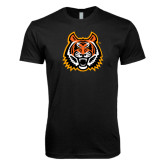 Next Level SoftStyle Black T Shirt-Bengal Head