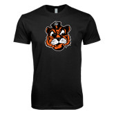 Next Level SoftStyle Black T Shirt-Vintage Mascot Head