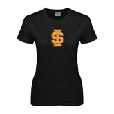Ladies Black T Shirt-#22