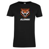 Ladies Black T Shirt-Alumni