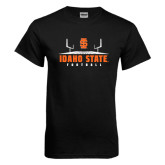 Black T Shirt-Football Field Design