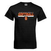 Black T Shirt-Softball Bar Design