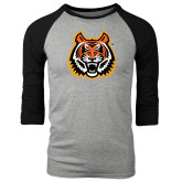 Grey/Black Tri Blend Baseball Raglan-Bengal Head