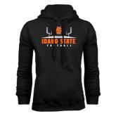 Black Fleece Hoodie-Football Field Design
