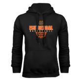 Black Fleece Hoodie-Basketball Net Design