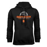 Black Fleece Hood-Volleyball Ball Design