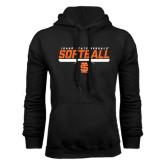 Black Fleece Hoodie-Softball Bar Design