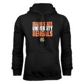 Black Fleece Hoodie-Idaho State University Bengals Stacked