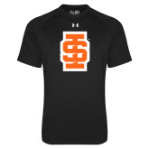 Under Armour Black Tech Tee-Interlocking IS - Two Color