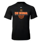 Under Armour Black Tech Tee-Basketball Net Design