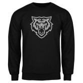 Black Fleece Crew-Primary Athletics Mark - One Color