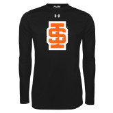 Under Armour Black Long Sleeve Tech Tee-Interlocking IS - Two Color