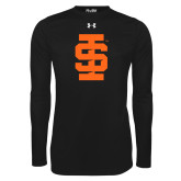Under Armour Black Long Sleeve Tech Tee-Interlocking IS - One Color