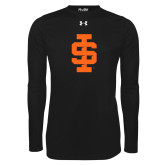 Under Armour Black Long Sleeve Tech Tee-Interlocking IS