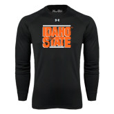 Under Armour Black Long Sleeve Tech Tee-Idaho State Block