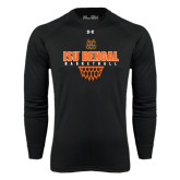 Under Armour Black Long Sleeve Tech Tee-Basketball Net Design