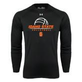 Under Armour Black Long Sleeve Tech Tee-Volleyball Ball Design