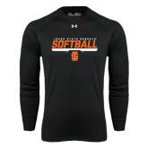 Under Armour Black Long Sleeve Tech Tee-Softball Bar Design