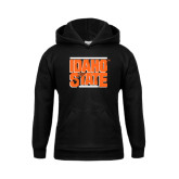 Youth Black Fleece Hoodie-Idaho State Block