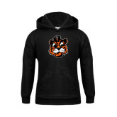 Youth Black Fleece Hoodie-Vintage Mascot Head