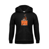 Youth Black Fleece Hoodie-Baby Bengal Stacked