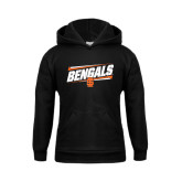 Youth Black Fleece Hoodie-Idaho State University Bengals Stacked