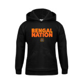 Youth Black Fleece Hoodie-Bengal Nation