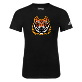 Adidas Black Logo T Shirt-Bengal Head