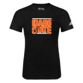 Adidas Black Logo T Shirt-Idaho State Block