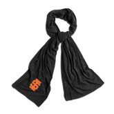 Black Eco Jersey Bundle Up Scarf-Interlocking IS
